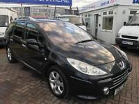 2007 PEUGEOT 307 SW ESTATE 7 SEATER !!! VERY RARE CAR WITH SEVEN SEATS CHEAP BARGAIN WITH NEW MOT !!