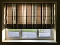 Blind - cream, light brown and dark brown stripe bought from john lewis