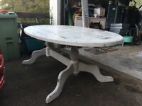 Large Pine oval kitchen table 7ft
