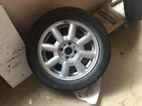 Mini one Alloy wheels and tyres