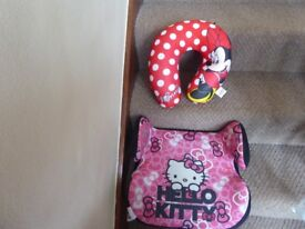 Hello Kitty Booster Seat & Mini Mouse Neck Rest