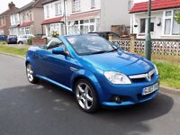 2007 VAUXHALL TIGRA EXCLUSIV BLUE 1 OWNER 45,000 MILES CONVERTIBLE A/C + LEATHER