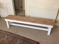 Vintage Wooden Farmhouse Bench