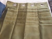 Dunelm Moss Green Curtains 66in x 90in 1 yr old as new condition