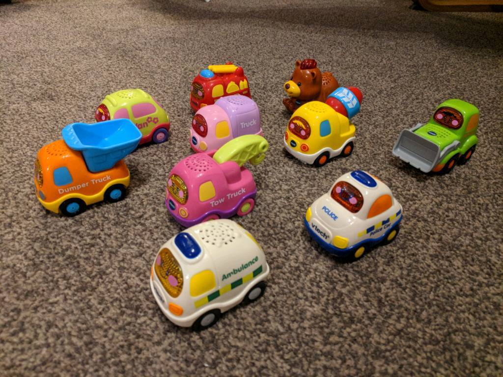 SOLD 10 Vtech toot toot cars