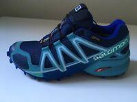Salomon Speedcross 4 Gore-Tex Women's Trail Running Shoes, Blue, Waterproof - size 4
