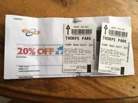 Thorpe Park Tickets x2