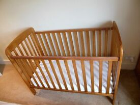 Cot bed (Kiddicare Jessica) with mattress