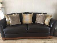 3+2 seater Italian Leather Sofas