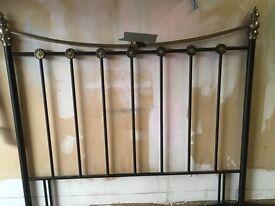 Metal/brass double bed headboard