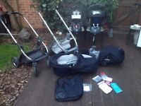 JOBLOT SET OF BABYSTYLE OYSTER BUGGY/PUSHCHAIR CARRYCOT PRAM WITH ACCESSORIES