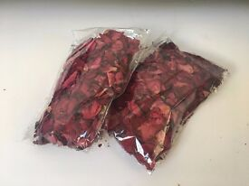 Dried Rose petals (real)   2 x 50g Bags   £5 for both