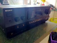 Sony A/V Receiver AMP & LTC SW100 Subwoofer