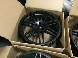 "20"" Matt black wheels 9x20 ET35 5/112 - One has a small crack which requires welding"