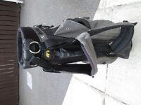 MITSUSHIBA black Golf Bag with foldable Stand