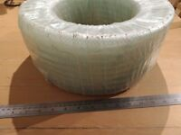 30m of 10mm clear braided PVC hose (pipe, tubing) - food grade, heavy duty, air, water, compressor