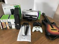 Xbox 360 + Guitar + Kinect + games & extras!