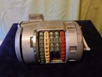OLD ALMEX TICKET MACHINE - SEE IMAGES.