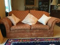Ponsfords Front Sprung Down/Feather Expensive Settees. Classical Style. Excellent Condition.