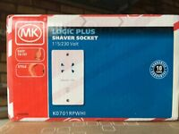 Dual voltage (115-230) shaver socket new unopened in manufacturers packaging