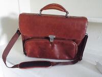 Tan Leather Laptop Bag