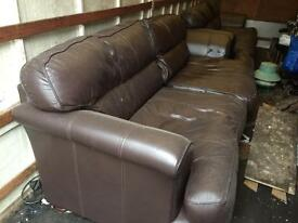 Very large leather sofas for sale