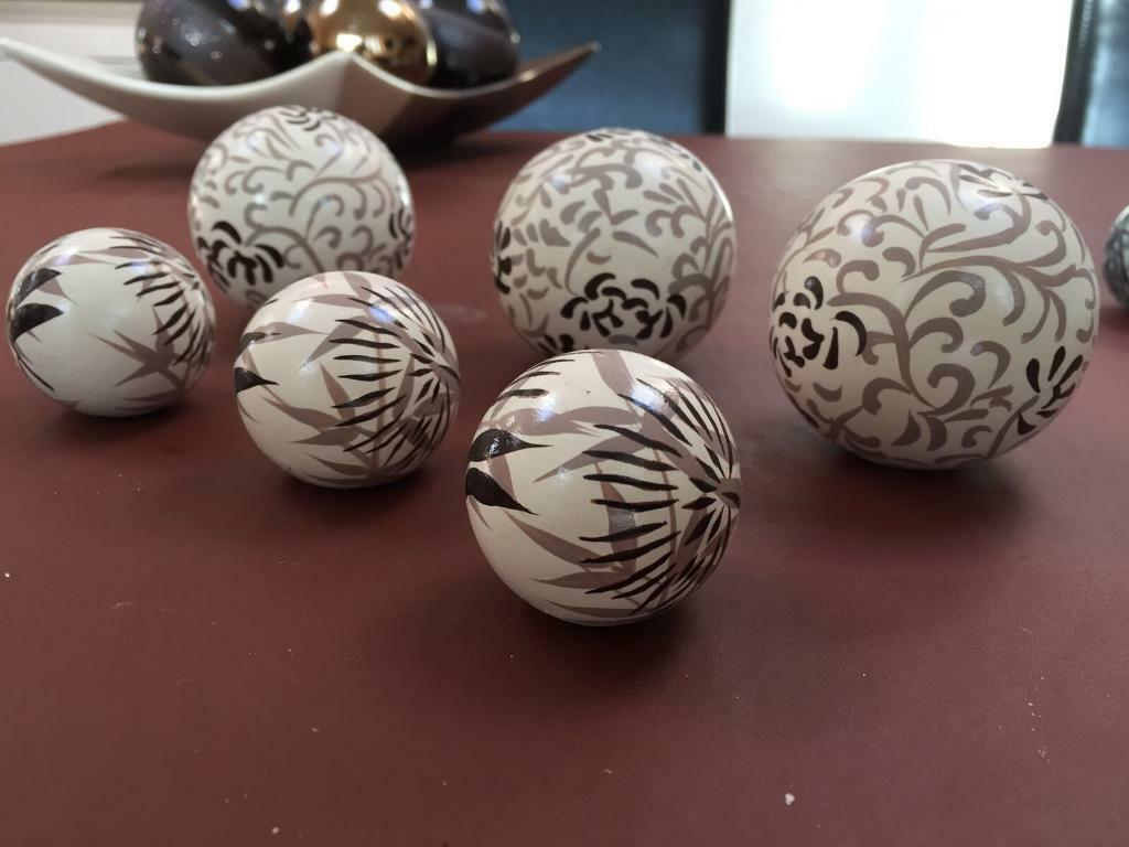 Cream Decorative Ceramic Balls In Gravesend Kent Gumtree