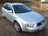 2002 52 AUDI A4 2.5TDI QUATTRO - 12 MONTHS MOT, 125K MILES, DRIVES WELL, CHEAP PX TO CLEAR!!