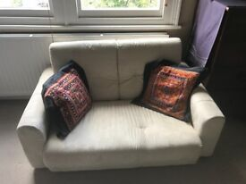 Cream / Ivory low sofabed