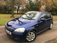 2005 (54 plate) Vauxhall Corsa 1.2 SXI Pioneer USB AUX Steering controls - MOT Sept 17 NT Astra polo