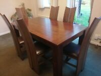Dining Table - Extendable. Solid wood - seats up to 8.