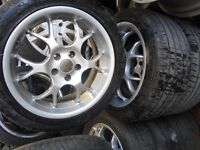 """17"""" BORBET BS ALLOY WHEELS / TYRES - FORD 5 X 108 - TRANSIT CONNECT / FOCUS"""