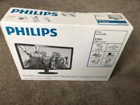 """Brand New Philips 18.5"""" V-Line Monitor 196V4LA LED PC Screen"""