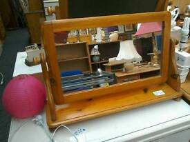 Dressing Table Mirror in Wooden frame #28562 £15