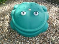 Frog sandbox and toys