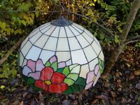 Tiffany style ceiling light stained glass lampshade