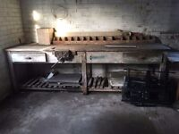 Work bench and vice