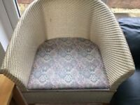 Bedroom Commode Lloyd Loom type Chair