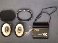 Car stereo sound system – head unit, 6x9s, and amp