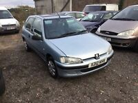 Peugeot 106 3 dr hatch good driver low mileage cheap to run ideal cheap runabout px welcome bargain