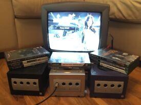 Nintendo Gamecube Console, Needs for Speed, FIFA, Wreckless, WWF, Matrix, Turok