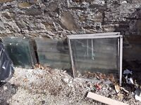 40 panes of greenhouse glass two greehnouse vents for sale