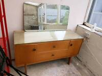Retro sideboard with mirror and drawers