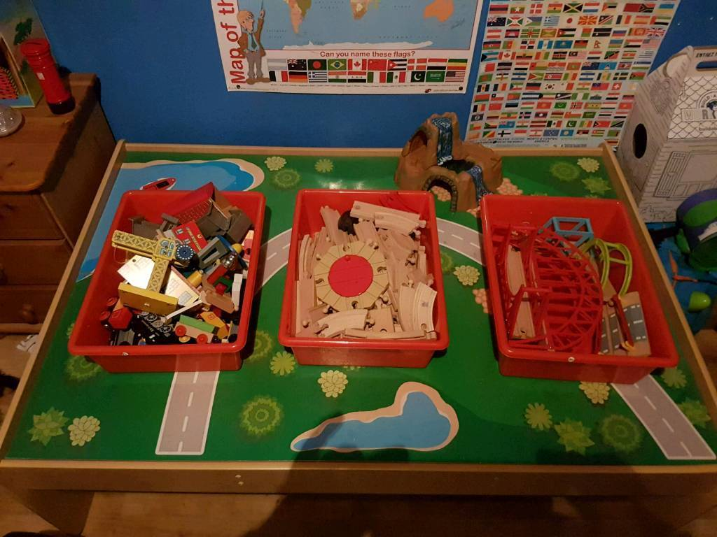 Wooden train table | in Withywood, Bristol | Gumtree