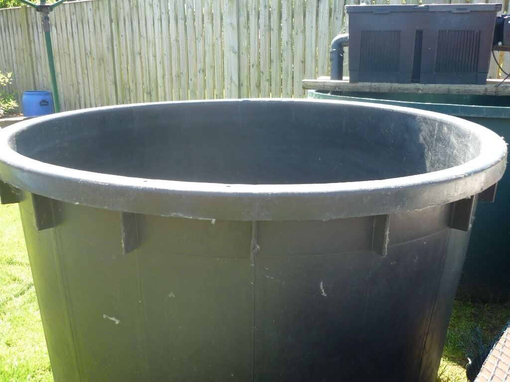 Large free standing koi vat fish pond holding tank 1000 for Koi holding pool
