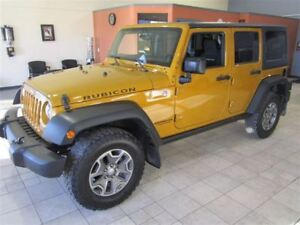 2014 Jeep Wrangler RUBICON UNLIMITED MANUAL TRANS (NO PST) 42K!