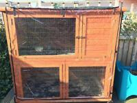 Twin multi storey rabbit hutch