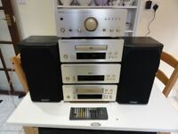 A Rare Champagne Denon UPA-F07 System with Mission Speakers Mint Condition