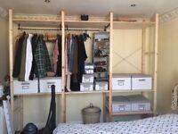 Ikea Pine Storage Wardrobe