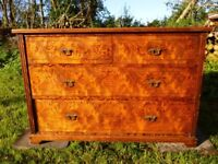 Victorian Pitch pine chest of drawers